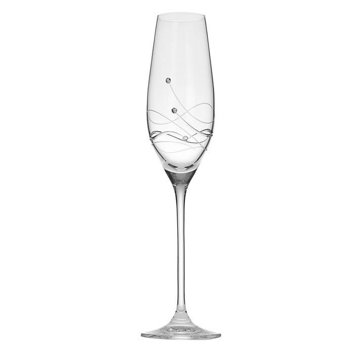 Dartington Crystal Glitz Champagne Flutes, 0.21L, Set of 2