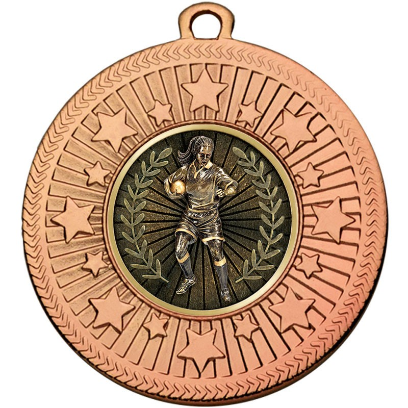 VF Star Rugby Female Medal