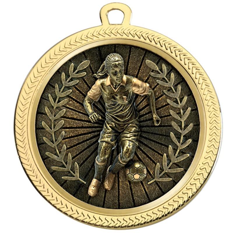 VF60 Female Football Medal