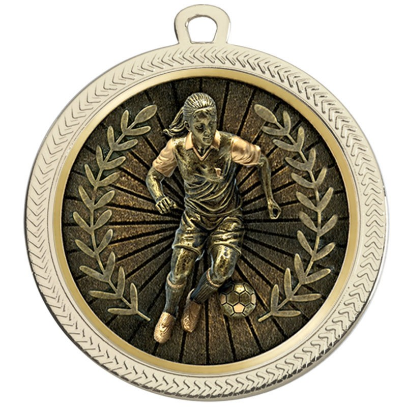 VF60 Female Football Medal
