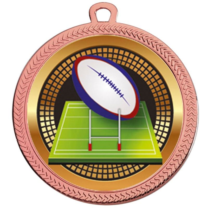VF60 Rugby Ball Medal