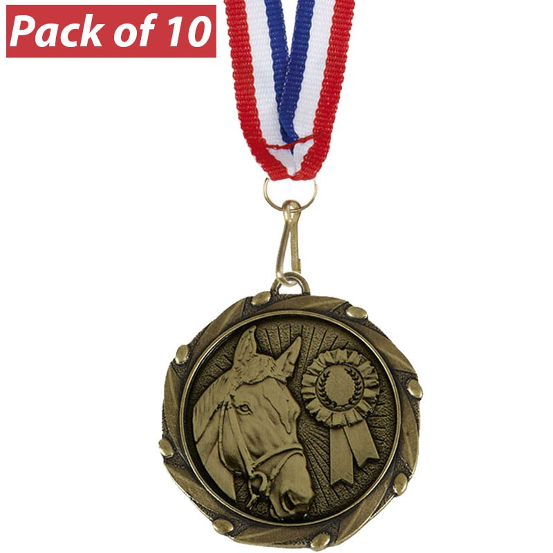 Pack of 10 Equestrian Combo Medals