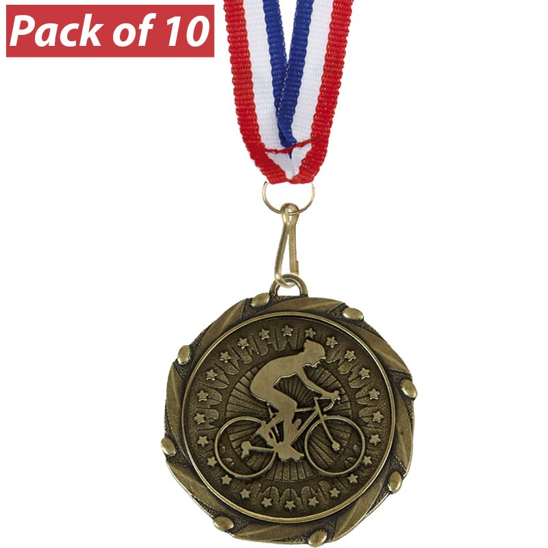 Pack of 10 Cycling Combo Medals