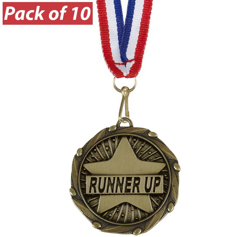 Pack of 10 Runner Up Combo Medals