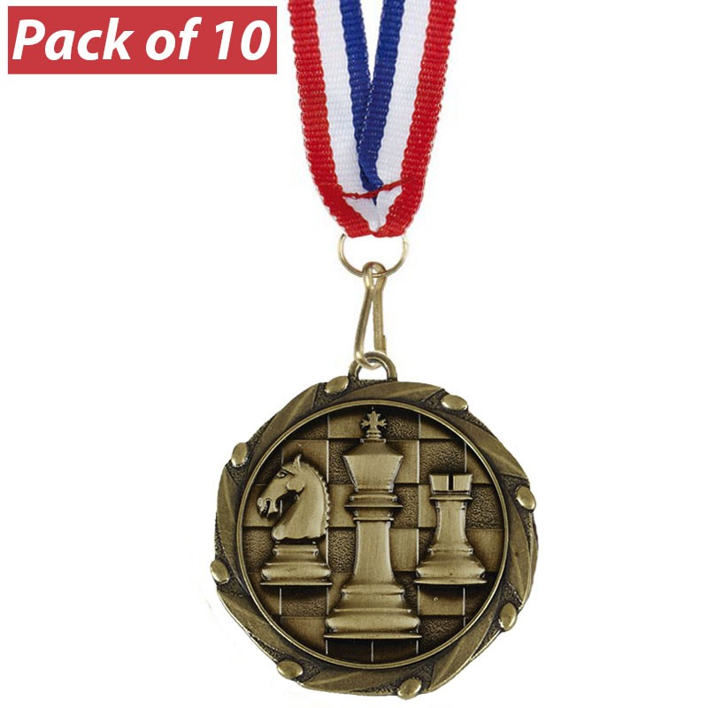 Pack of 10 Chess Combo Medals