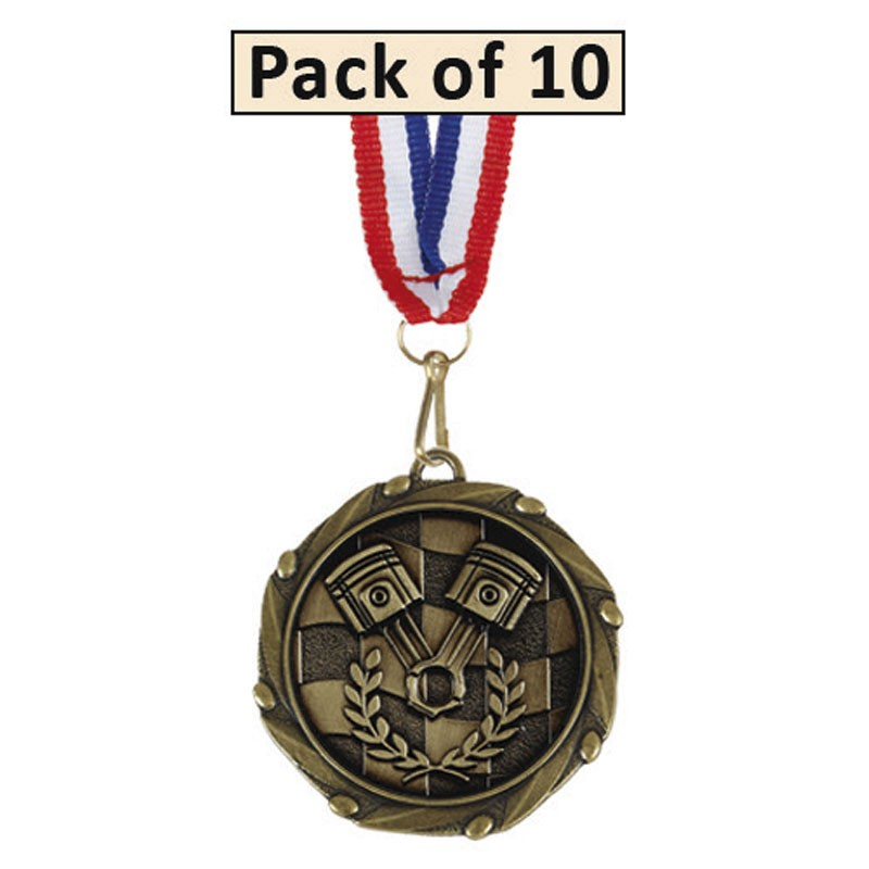 Pack of 10 Racing Combo Medals
