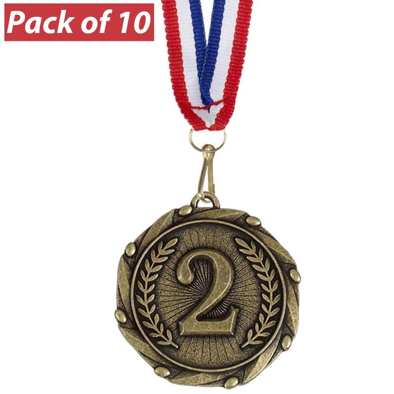 Pack of 10 2nd Combo Medals