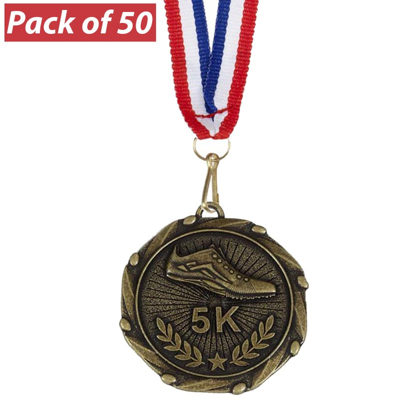 Pack of 10 5k Run Combo Medals