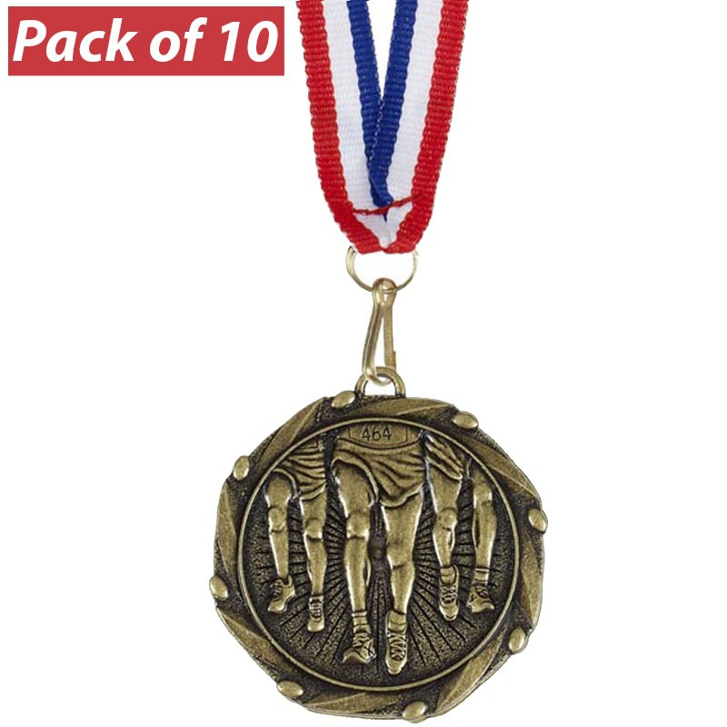 Pack of 10 Running Combo Medals