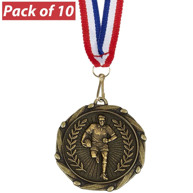 Pack of 10 Rugby Male Combo Medals
