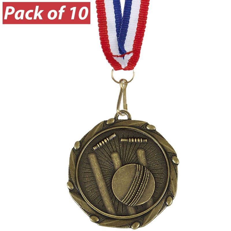 Pack of 10 Cricket Combo Medals