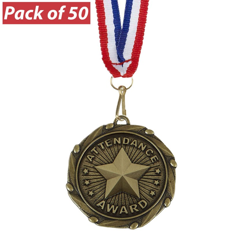 Pack of 50 Attendance Combo Medals