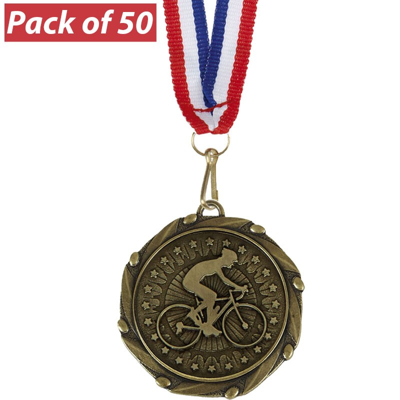 Pack of 50 Cycling Combo Medals