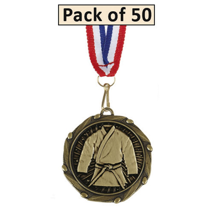 Pack of 50 Martial Arts Combo Medal