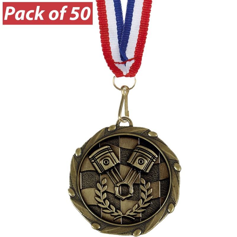 Pack of 50 Racing Combo Medals