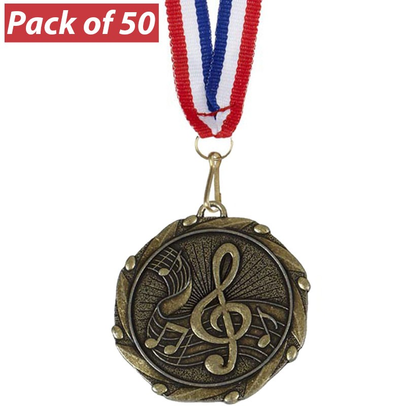Pack of 50 Music Combo Medals
