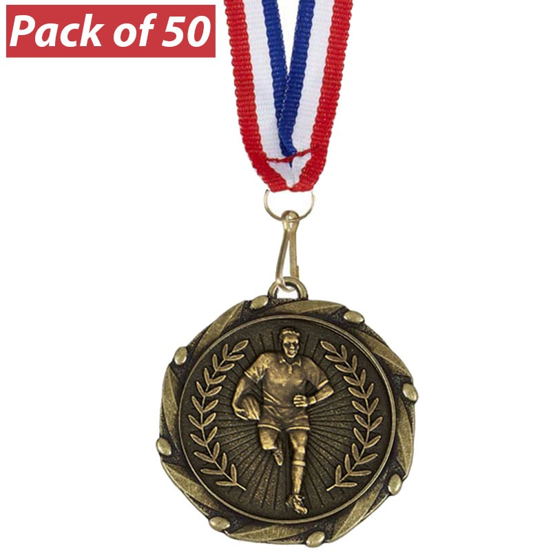 Pack of 50 Rugby Male Combo Medals