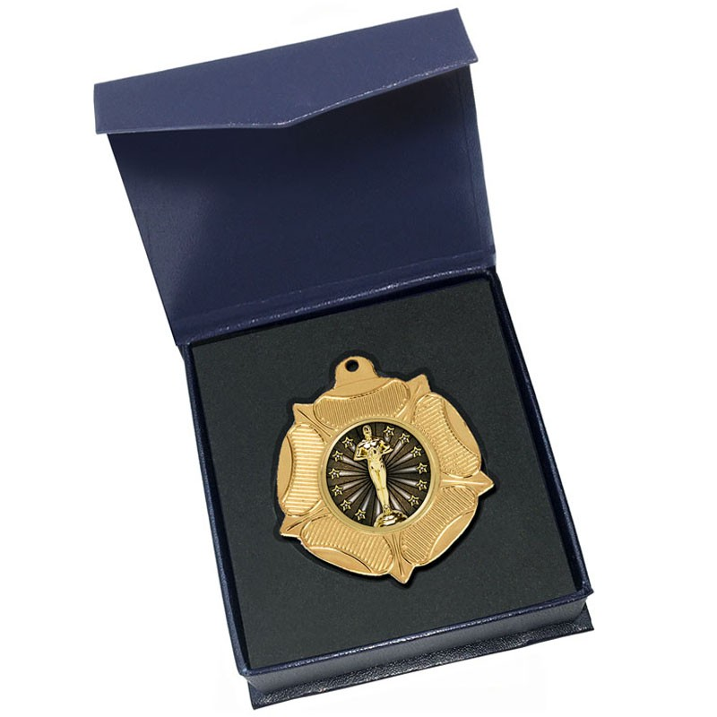 Gold Achievement Medal in box