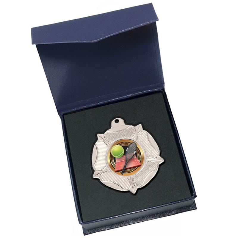 Silver Tennis Medal in box