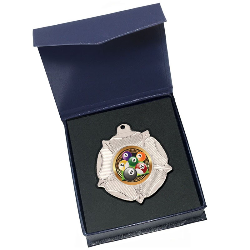Silver Pool/Snooker Medal in box