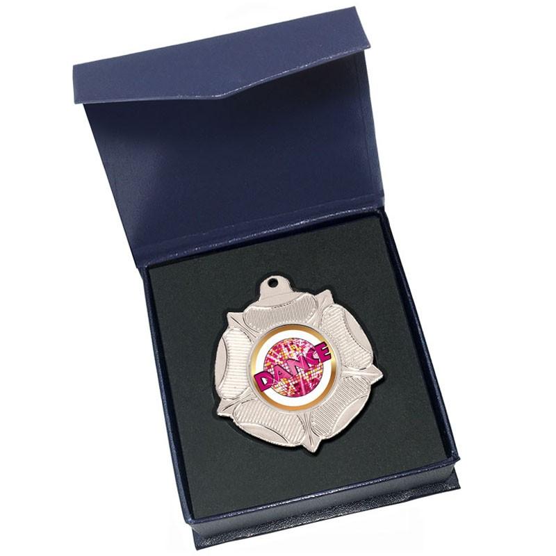 Silver Dance Medal in box