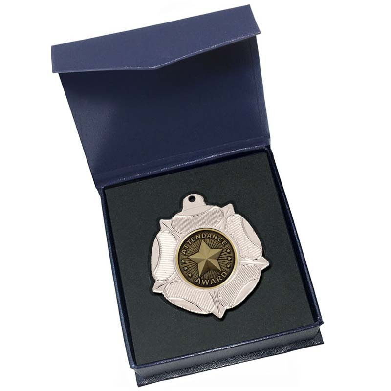 Silver Attendance Medal in box