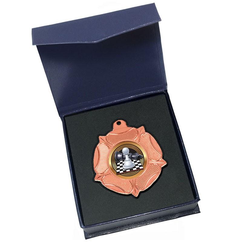 Bronze Chess medal in box