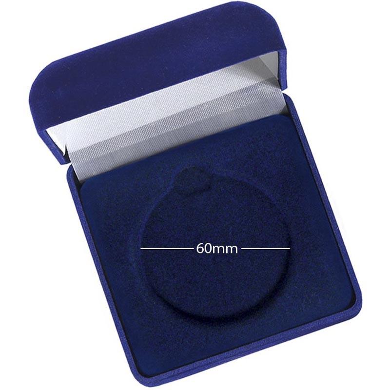 Medal Case60 Blue Velvet