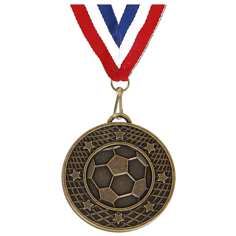 Target50 Football Medal with RWB