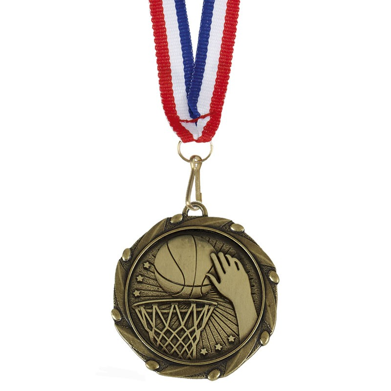 COMBO Basketball Medal with 10mm R/