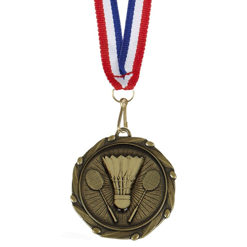 COMBO Badminton Medal with 10mm R/W