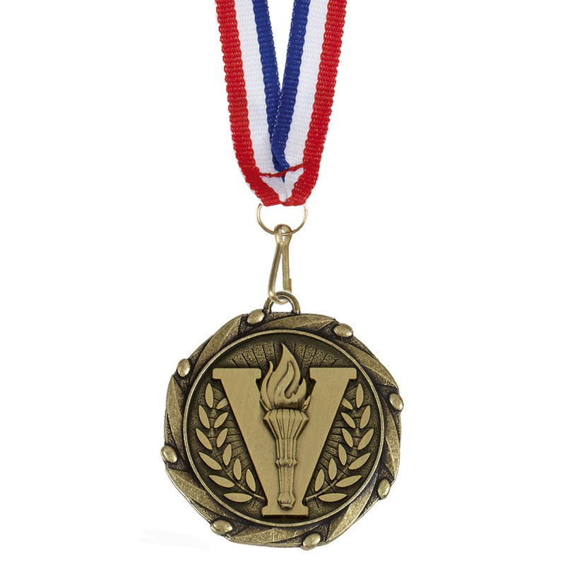 COMBO Victory Medal with 10mm R/W/B
