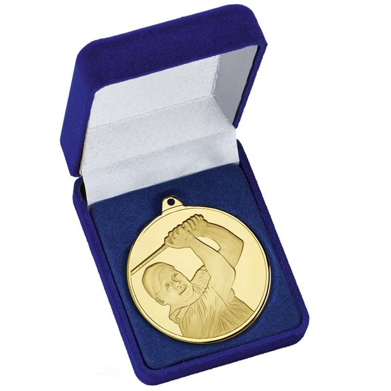Frosted Glacier Golfer Medal in Cas