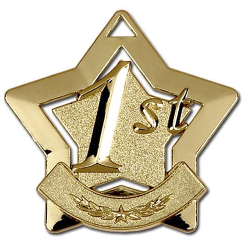Mini 1st Place Star Medal