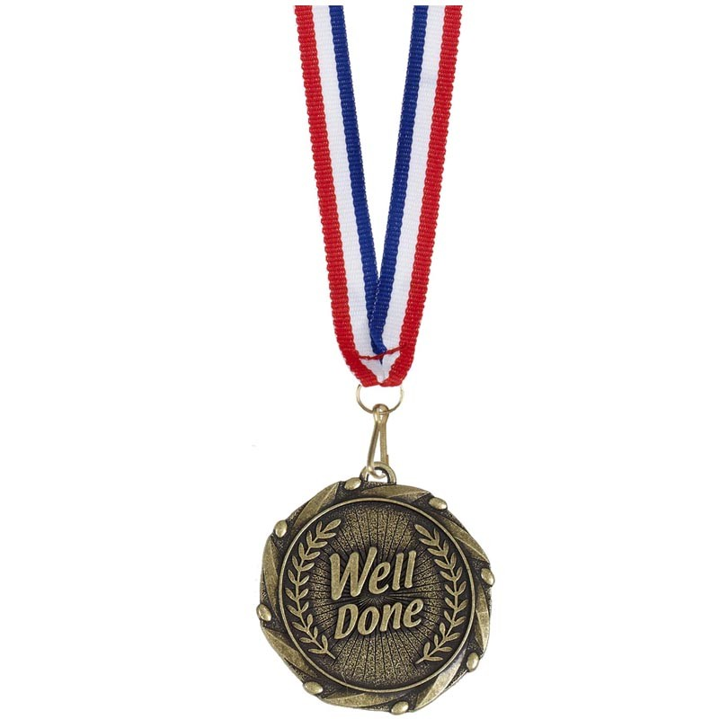 Combo45 Well Done Medal & Ribbon