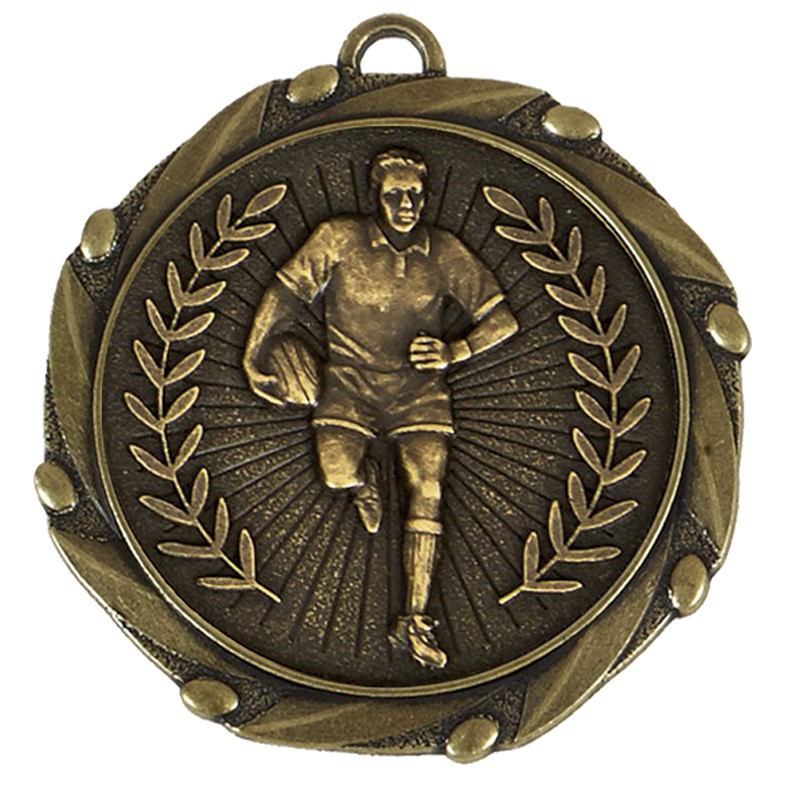 Combo Rugby Player Medal & Ribbo