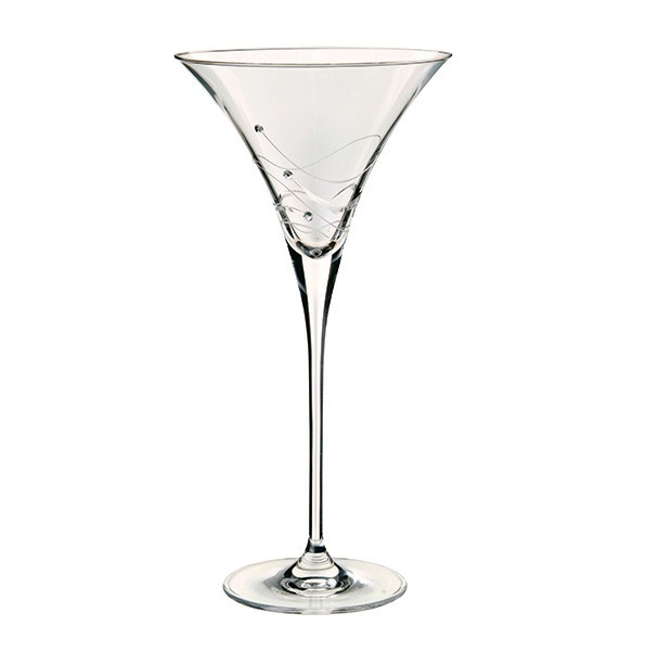 1 Pair Glitz Martini Cocktail Glasses