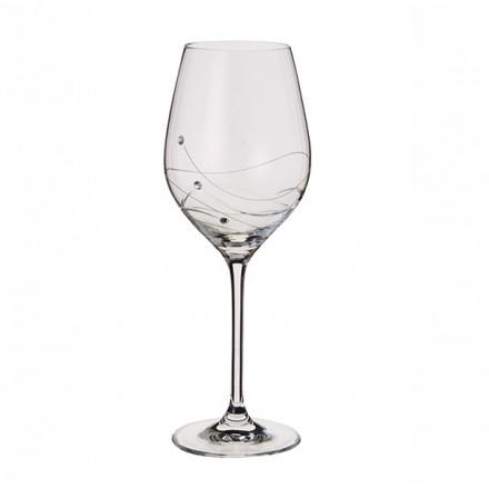 1 Pair Glitz Wine Glasses