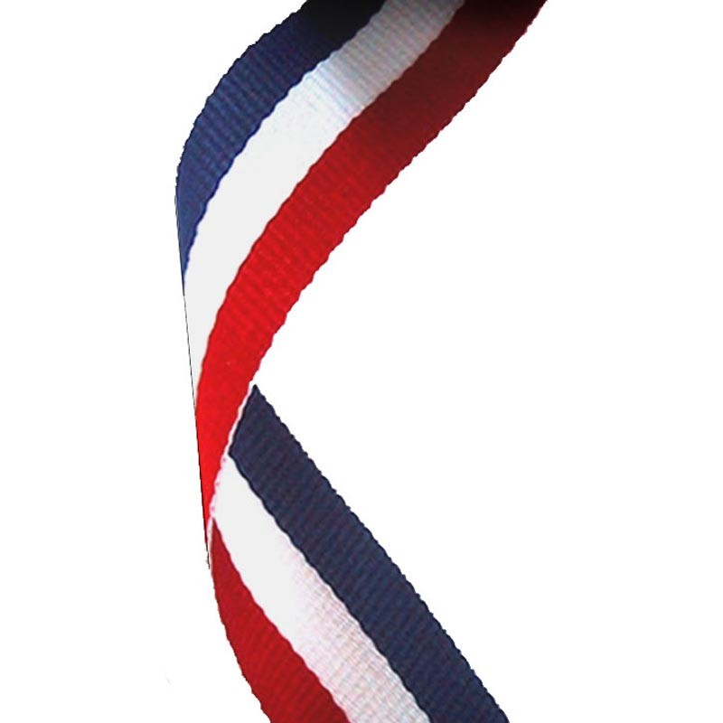 Medal Ribbon Red White & Blue