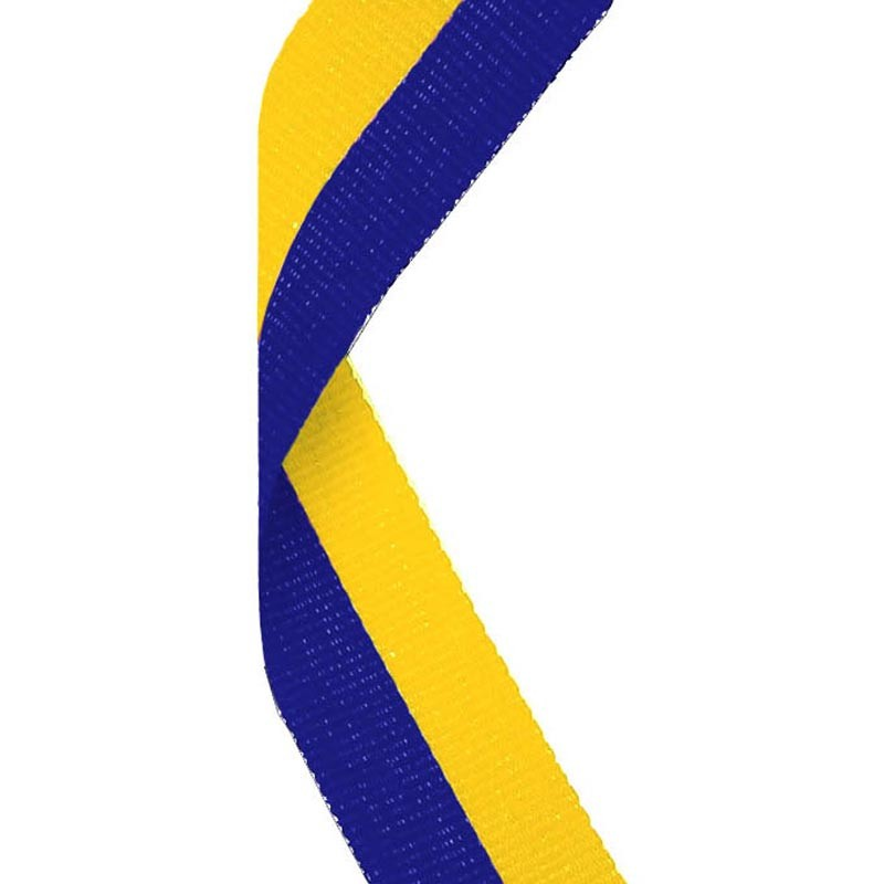 Medal Ribbon Blue & Yellow
