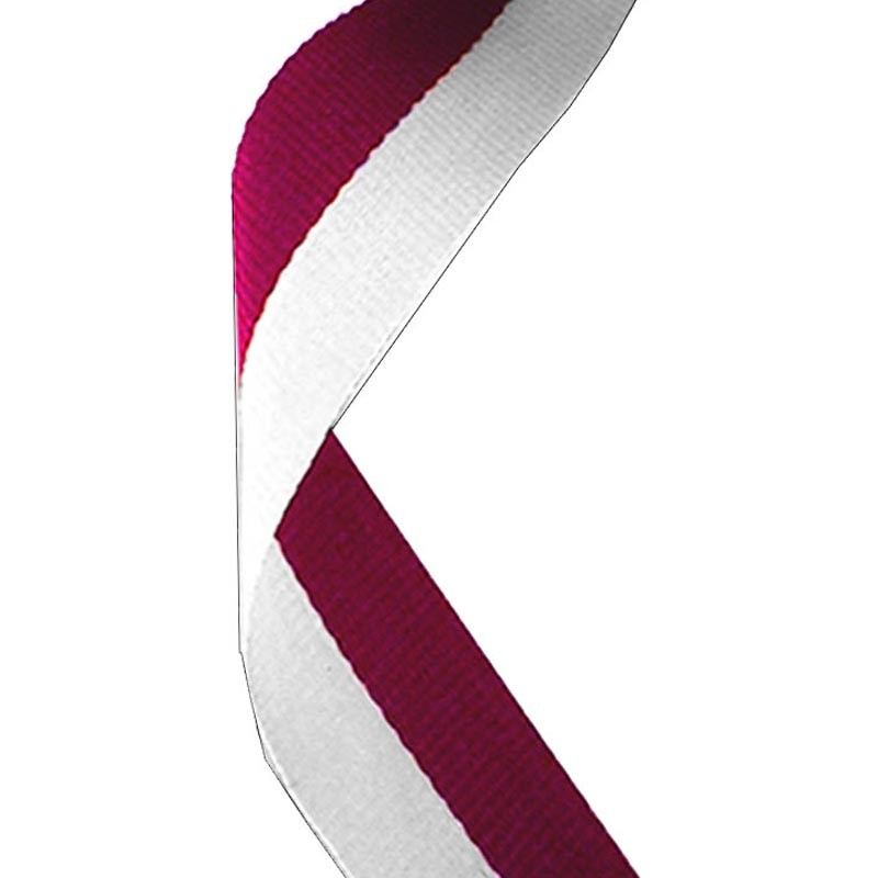 Medal Ribbon Maroon & White