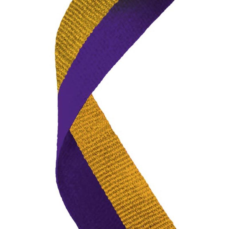 Medal Ribbon Purple & Gold