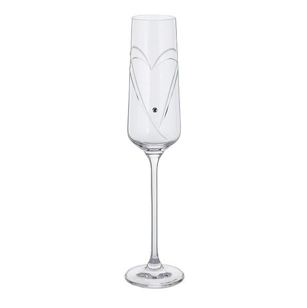 1 Pair Romance Champagne Flutes - Glitz
