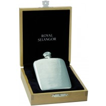Hipflask in Wooden Box - Blonde