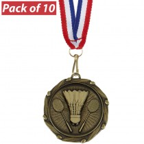 Pack of 10 Badminton Combo Medals
