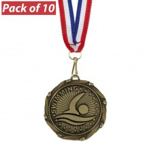 Pack of 10 Swimming Combo Medals