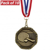 Pack of 10 Table Tennis Combo Medal