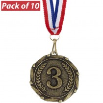 Pack of 10 3rd Combo Medals