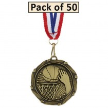 Pack of 50 Basketball Combo Medals
