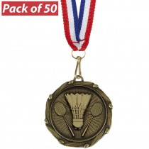 Pack of 50 Badminton Combo Medals
